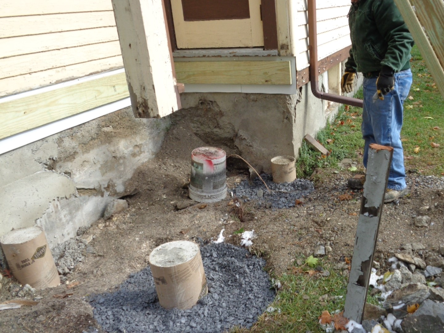 The back porch being built