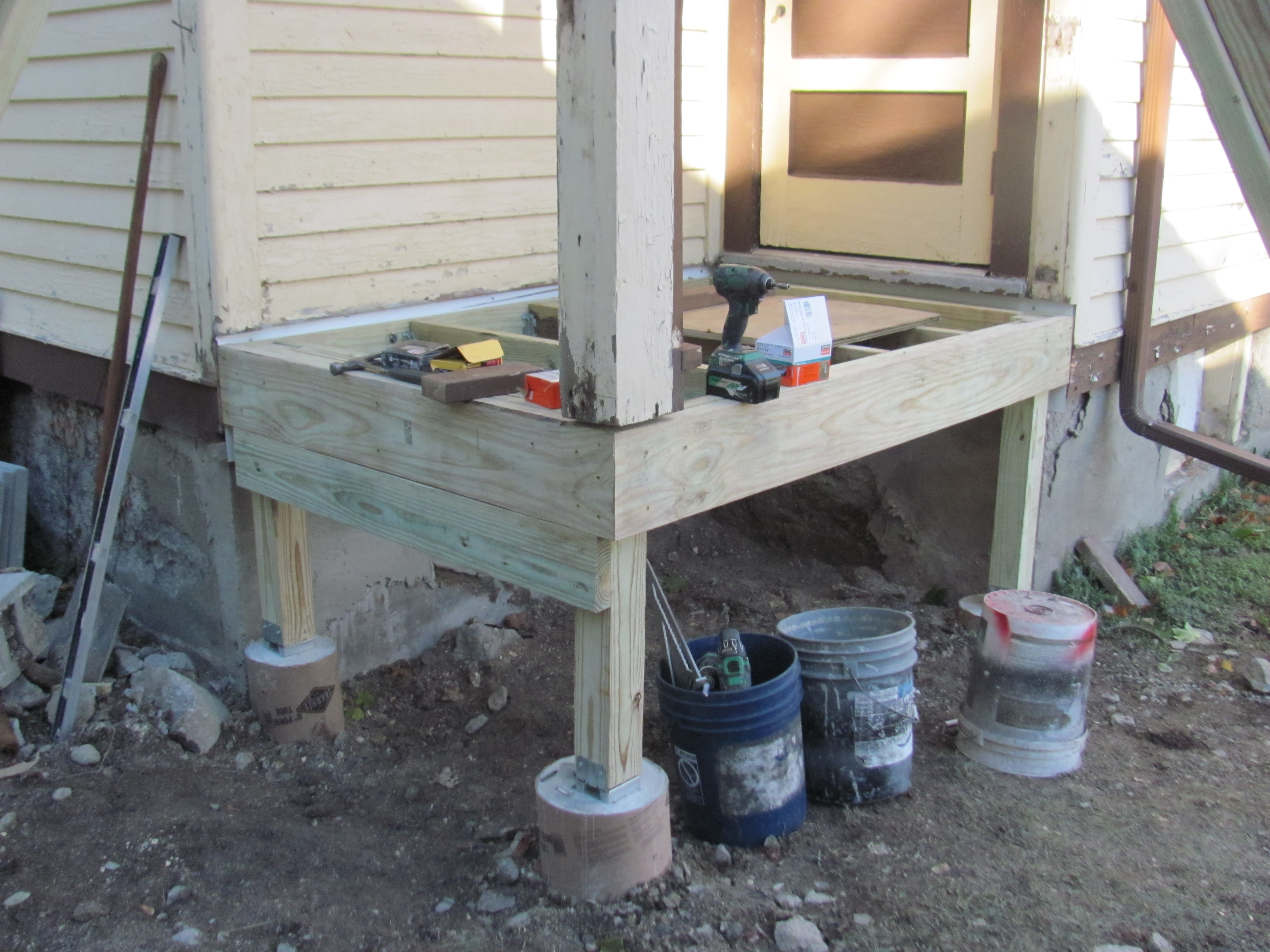 Progress on the new back porch