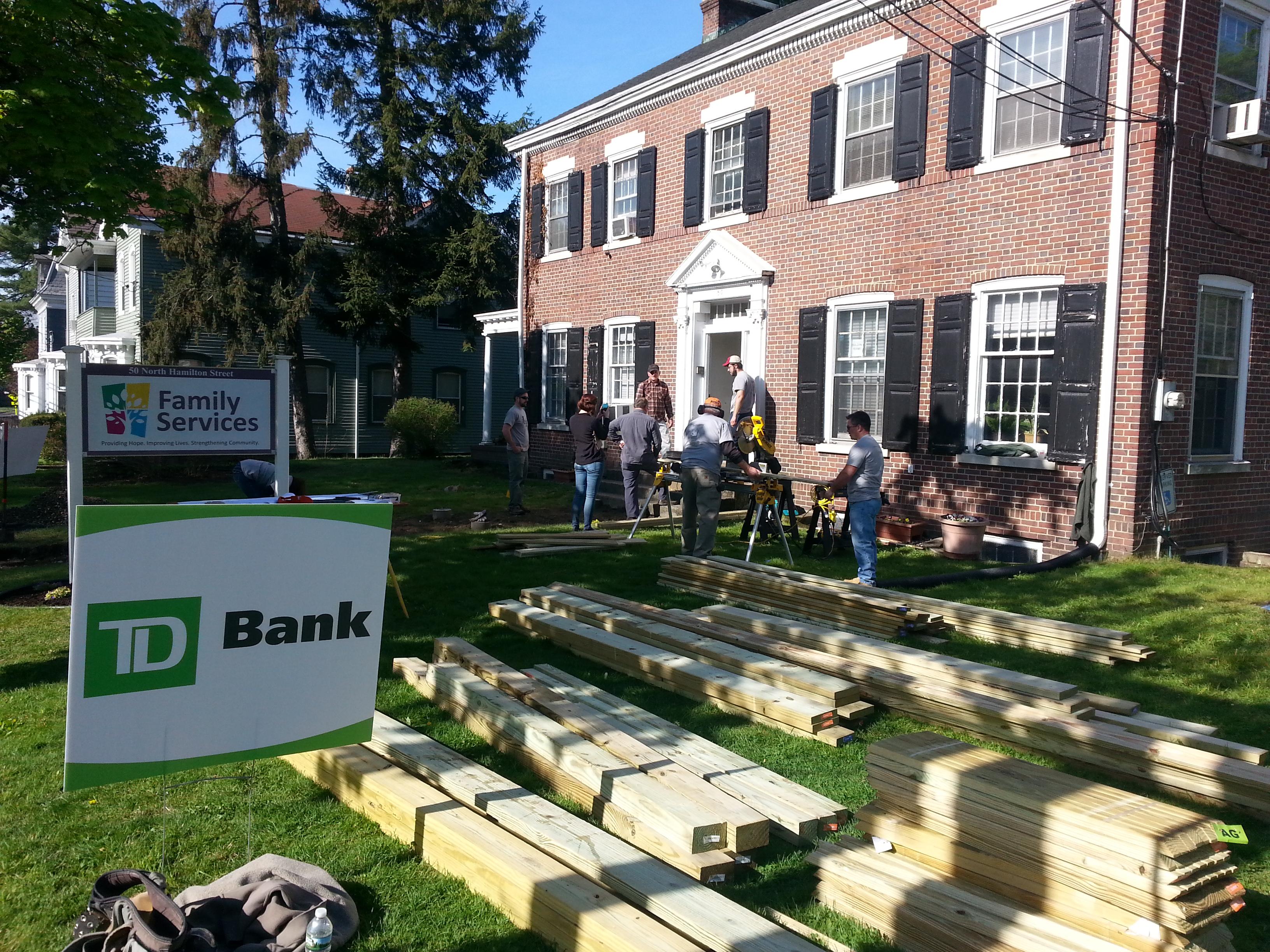 TD Bank volunteers