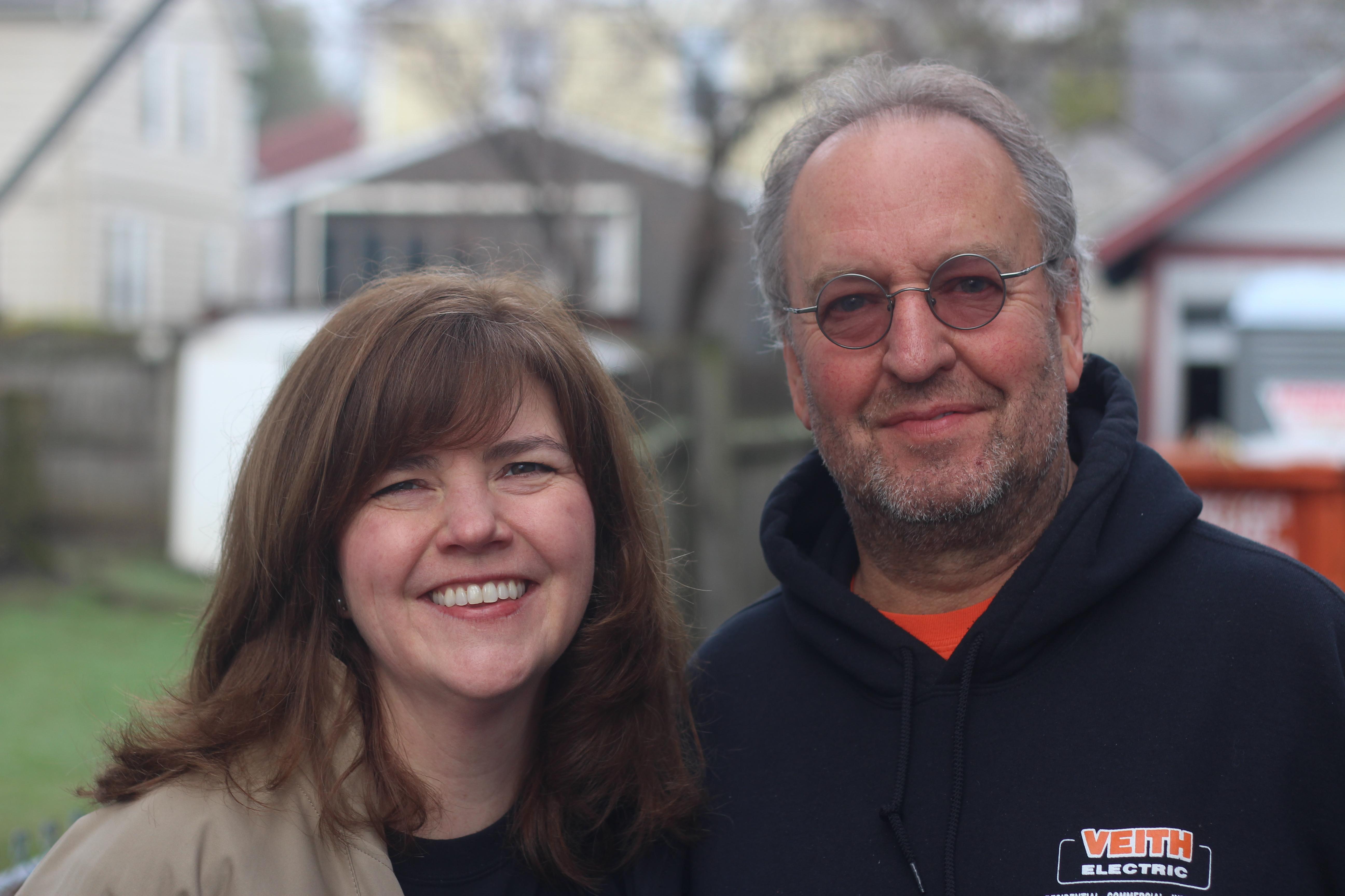 Don Veith Jr. with RTDC Executive Director Christina Boryk.